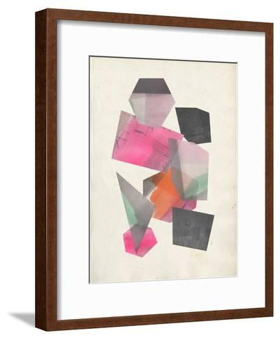 Collaged Shapes II-Jennifer Goldberger-Framed Art Print