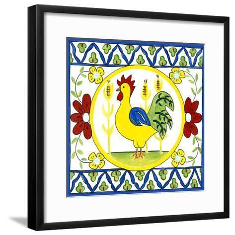 Rustic Tile V-Chariklia Zarris-Framed Art Print