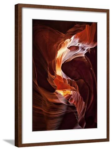 Sun Shining Through Canyon V-David Drost-Framed Art Print