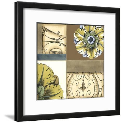 Small Marine Rosette Comp. III-Jennifer Goldberger-Framed Art Print