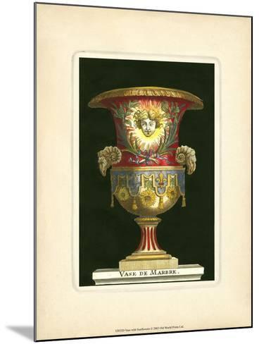 Vase with Sunflowers- THOMASSIN-Mounted Art Print