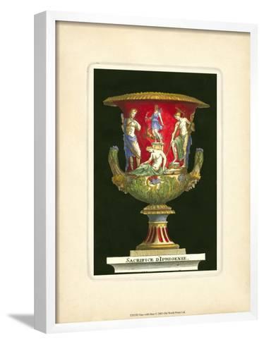 Vase with Deer- THOMASSIN-Framed Art Print