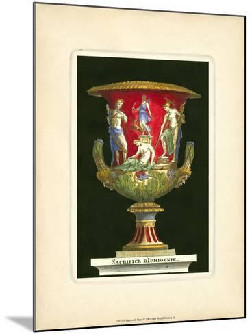 Vase with Deer- THOMASSIN-Mounted Art Print