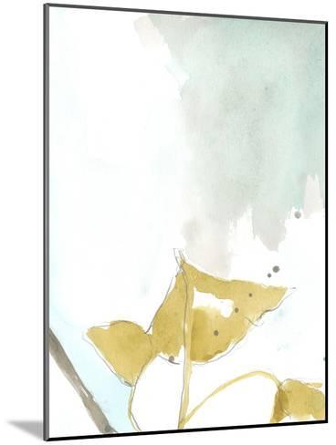 Ginkgo on Dusty Teal III-Jennifer Goldberger-Mounted Premium Giclee Print