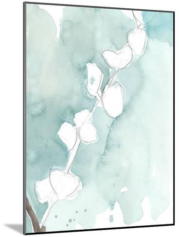 Ginkgo on Dusty Teal V-Jennifer Goldberger-Mounted Premium Giclee Print
