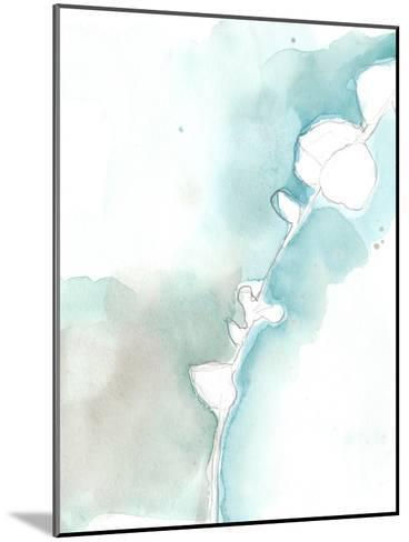 Ginkgo on Dusty Teal VII-Jennifer Goldberger-Mounted Premium Giclee Print