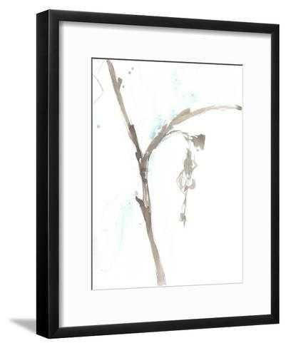 Ginkgo on Dusty Teal VIII-Jennifer Goldberger-Framed Art Print