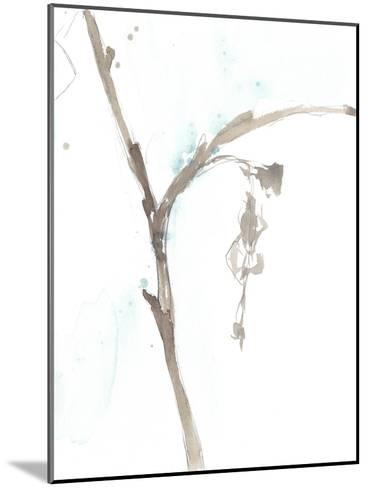 Ginkgo on Dusty Teal VIII-Jennifer Goldberger-Mounted Premium Giclee Print
