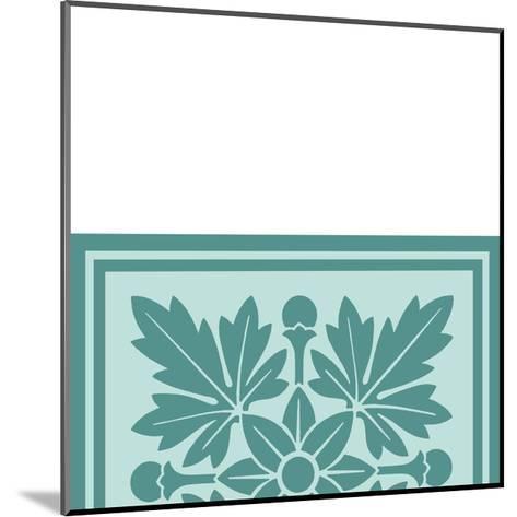 Tonal Woodblock in Blue I-Vision Studio-Mounted Art Print