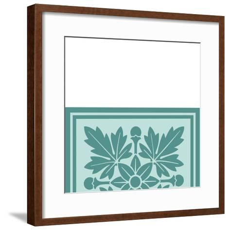Tonal Woodblock in Blue I-Vision Studio-Framed Art Print