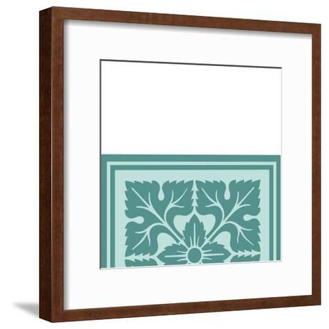 Tonal Woodblock in Blue IV-Vision Studio-Framed Art Print