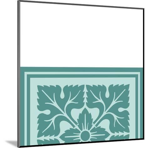 Tonal Woodblock in Blue IV-Vision Studio-Mounted Art Print
