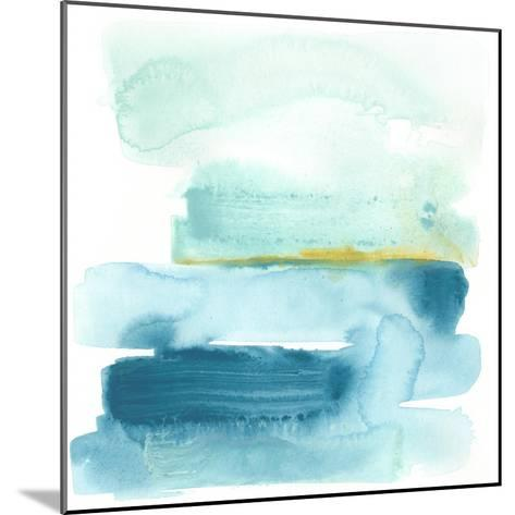 Liquid Shoreline I-June Vess-Mounted Premium Giclee Print