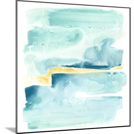 Liquid Shoreline IV-June Vess-Mounted Premium Giclee Print