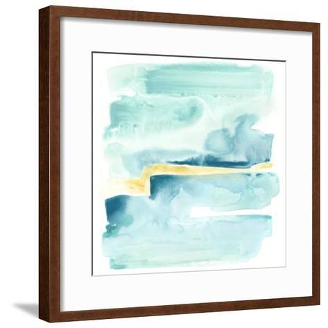 Liquid Shoreline IV-June Vess-Framed Art Print