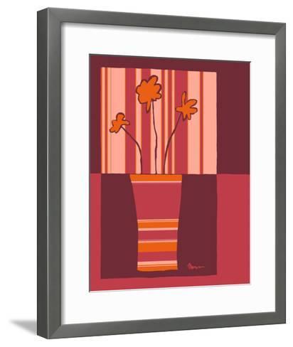 Minimalist Flowers in Orange IV- Goldberger & Archie-Framed Art Print
