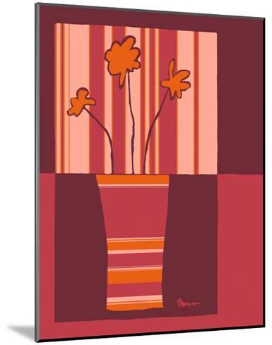 Minimalist Flowers in Orange IV- Goldberger & Archie-Mounted Art Print
