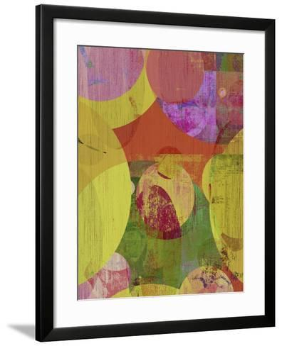 Vibrant Ellipses II-Ricki Mountain-Framed Art Print