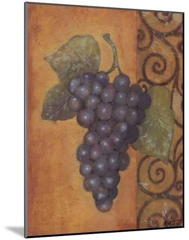 Scrolled Grapes II-Norman Wyatt, Jr^-Mounted Art Print