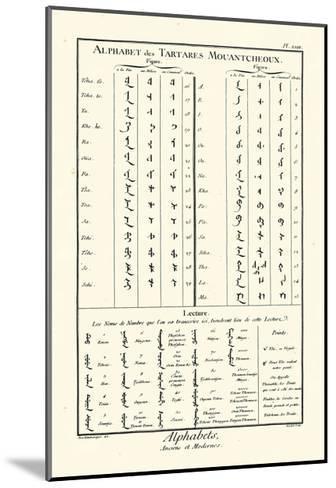 Alphabets Tartares-Diderot-Mounted Art Print