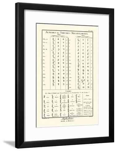 Alphabets Tartares-Diderot-Framed Art Print