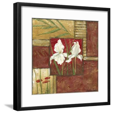 Red Lacquer Collage II-Chariklia Zarris-Framed Art Print