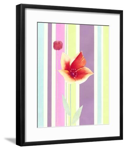 Flowers & Stripes IV-Vision Studio-Framed Art Print