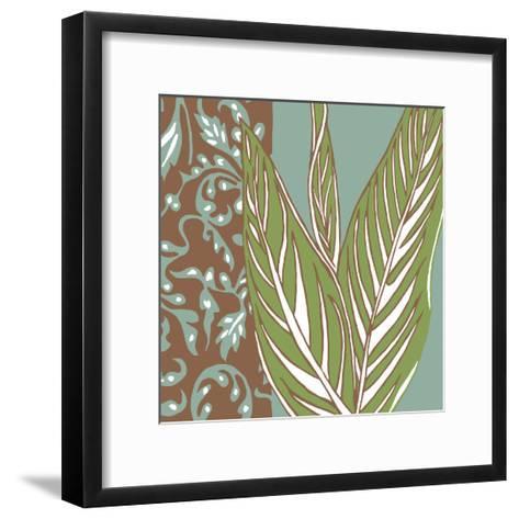 Nouveau Leaves II-Chariklia Zarris-Framed Art Print