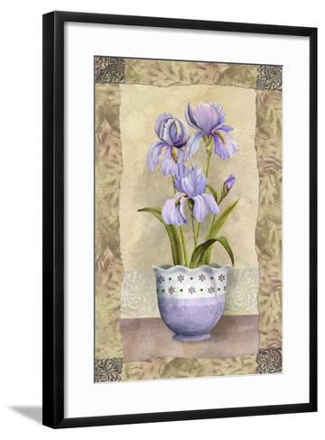 Spring Iris-Abby White-Framed Art Print
