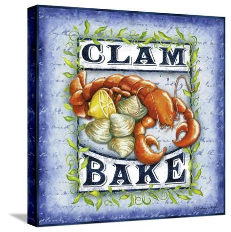 Seafood Sign III-Sydney Wright-Stretched Canvas Print
