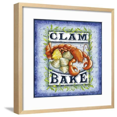 Seafood Sign III-Sydney Wright-Framed Art Print