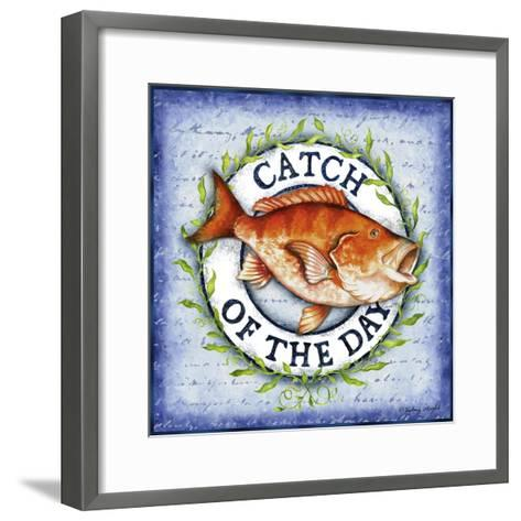 Seafood Sign II-Sydney Wright-Framed Art Print