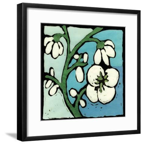 Teal Batik Botanical II-Andrea Davis-Framed Art Print