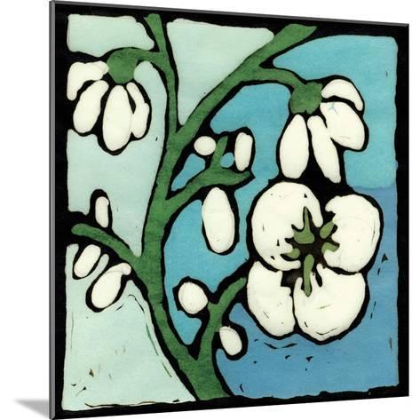 Teal Batik Botanical II-Andrea Davis-Mounted Art Print