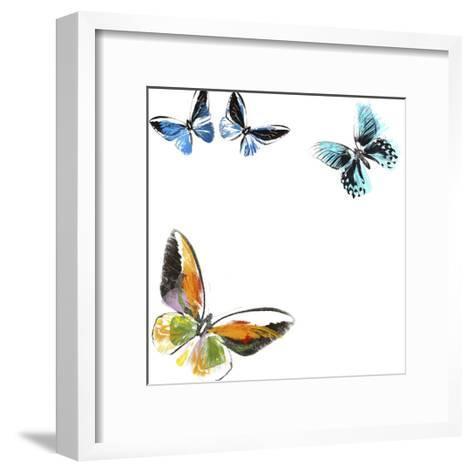 Butterflies Dance VII-A. Project-Framed Art Print