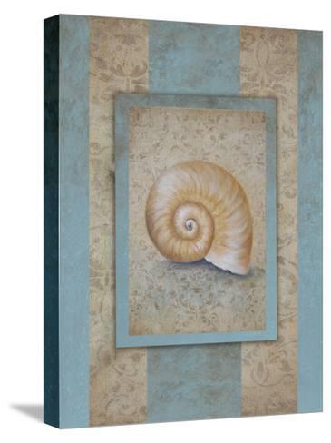 Shell & Damask Stripe I-Rita Broughton-Stretched Canvas Print