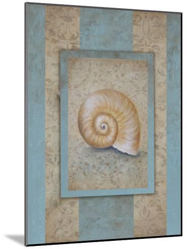 Shell & Damask Stripe I-Rita Broughton-Mounted Art Print