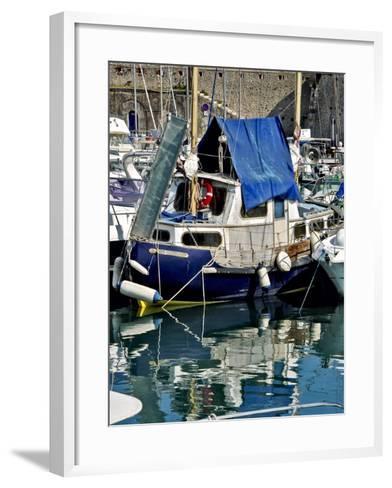 Antibes Harbor II-Rachel Perry-Framed Art Print