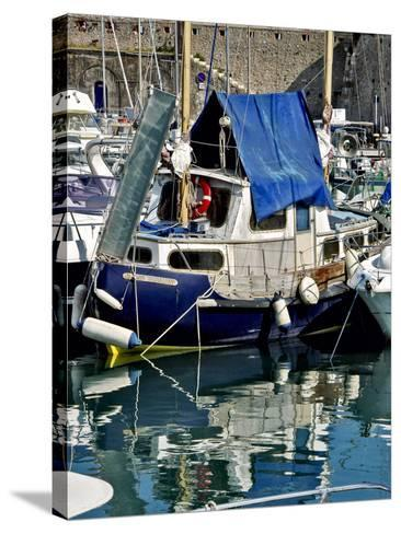Antibes Harbor II-Rachel Perry-Stretched Canvas Print