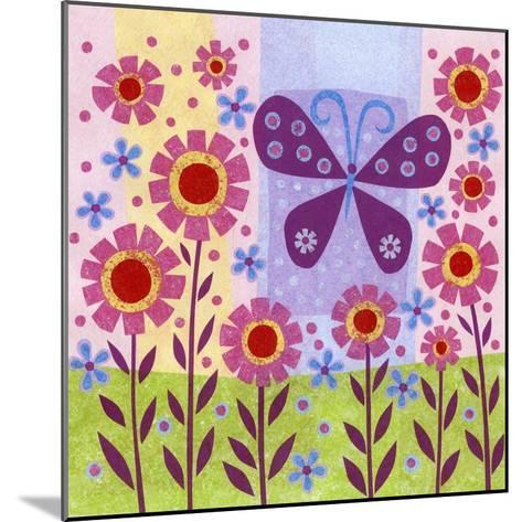 Butterfly Meadow-Kim Conway-Mounted Art Print