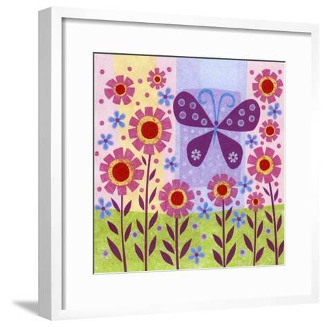 Butterfly Meadow-Kim Conway-Framed Art Print