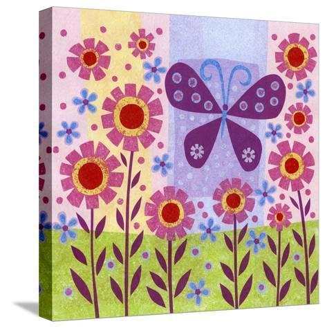 Butterfly Meadow-Kim Conway-Stretched Canvas Print
