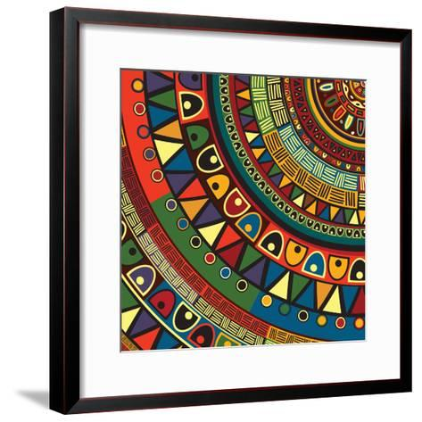 Colored Tribal Design, Abstract Art-Richard Laschon-Framed Art Print