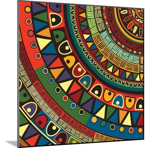 Colored Tribal Design, Abstract Art-Richard Laschon-Mounted Photographic Print