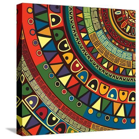 Colored Tribal Design, Abstract Art-Richard Laschon-Stretched Canvas Print