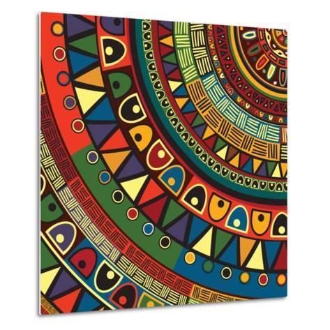 Colored Tribal Design, Abstract Art-Richard Laschon-Metal Print