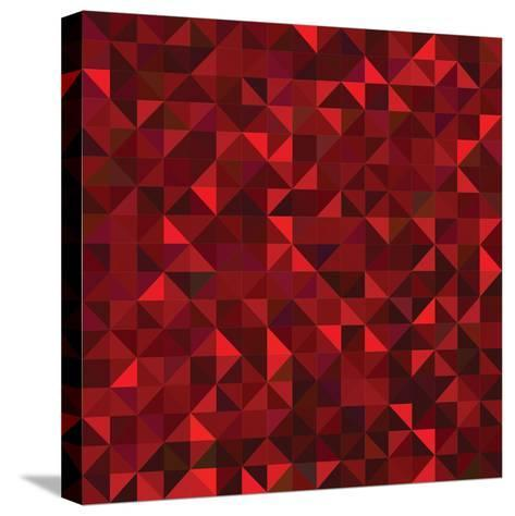 Red Geometric Background. Vector Mosaic Pattern-ESSL-Stretched Canvas Print
