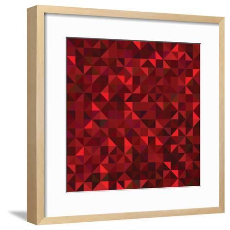Red Geometric Background. Vector Mosaic Pattern-ESSL-Framed Art Print