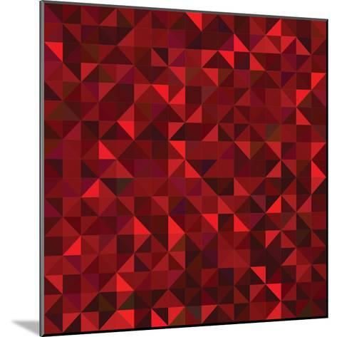 Red Geometric Background. Vector Mosaic Pattern-ESSL-Mounted Photographic Print