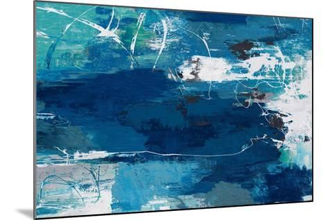 Blue Abstractions-PI Studio-Mounted Art Print